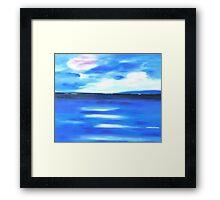 Sea Blue Sky Framed Print