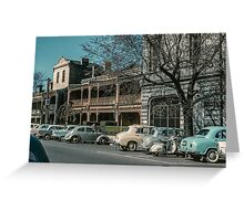 Mackenzie St Beside Russell St Police station 1960 Greeting Card