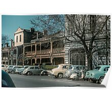 Mackenzie St Beside Russell St Police station 1960 Poster