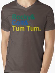 3 Ninjas Funny Geek Nerd Mens V-Neck T-Shirt