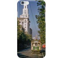Tram in Collins Street 1958 iPhone Case/Skin