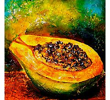 Tropics..Papaya at the George St Market Photographic Print