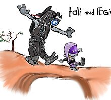 Tali and Legion by Gwen Olson