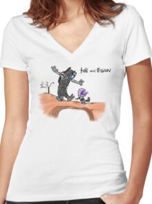 Tali and Legion Women's Fitted V-Neck T-Shirt