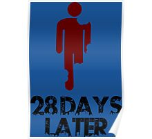 28 days later Funny Geek Nerd Poster