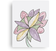 Carnivaled Flower (a Bouquet of Pastel Colours) Canvas Print