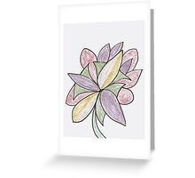 Carnivaled Flower (a Bouquet of Pastel Colours) Greeting Card