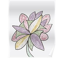 Carnivaled Flower (a Bouquet of Pastel Colours) Poster