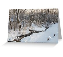 Snowy Brook Greeting Card