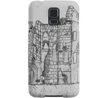 Pencil Sketch of Old Wardour Castle, England - all products Samsung Galaxy Case/Skin