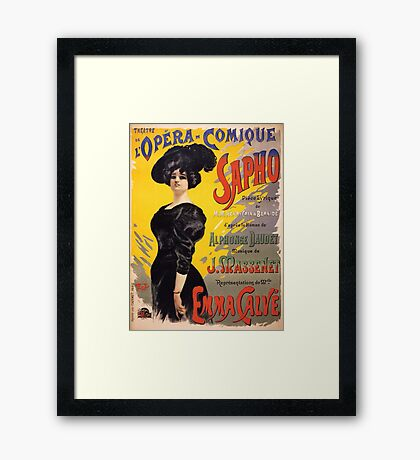 Comic Opera French Classic Vintage Poster Framed Print