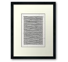 Hand Drawn Lines Print Framed Print