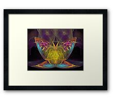 'Psychic Butterfly (Dog and Butterfly)' Framed Print