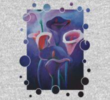 Purple Calla Flowers Kids Tee