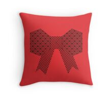 Red Fabric Bow Origami 2 Throw Pillow