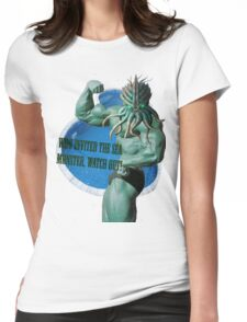 Who invited the sea monster, watch out! Womens Fitted T-Shirt