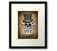 Cute Steampunk Dalmatian Puppy Dog Framed Print