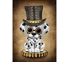 Cute Steampunk Dalmatian Puppy Dog Photographic Print