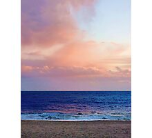 Sunset over the shore Photographic Print