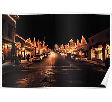 Broad Street, Nevada City, California, December 20th Poster