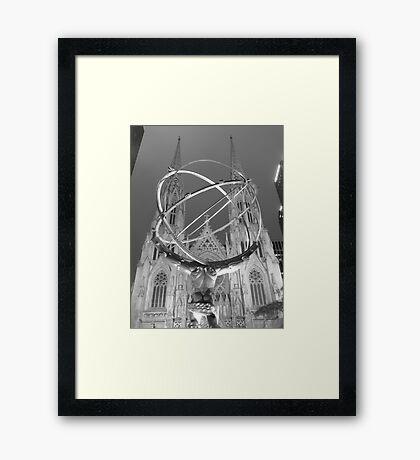 Atlas at Night Framed Print