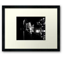 Mic. Framed Print