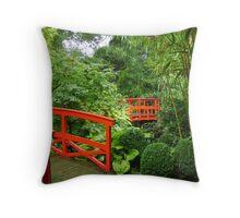 Japanese Bridges Throw Pillow