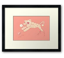 Creamy fun Framed Print