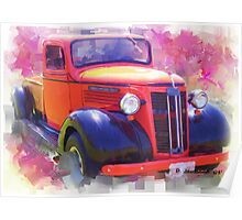1937 Chevy Truck Poster