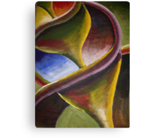 Sliced shell closeup in colour  Canvas Print