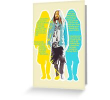 Jared Leto - words of wisdom Greeting Card