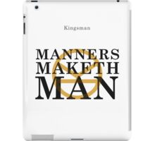 Manners Maketh Man - Kingsman iPad Case/Skin
