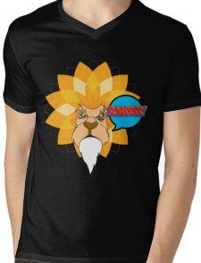 SUNFLOWER LION Mens V-Neck T-Shirt