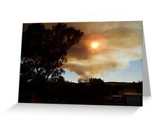 Bushfire in the Weddin Mountains, January 2006 Greeting Card
