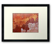 Bleeding Gold Framed Print