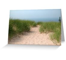 Pathway in the Sand Greeting Card