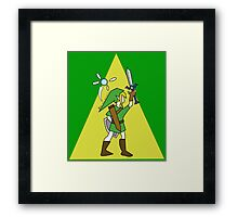 Link and Navi - TRIFORCE Framed Print