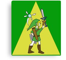 Link and Navi - TRIFORCE Canvas Print