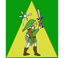 Link and Navi - TRIFORCE Photographic Print