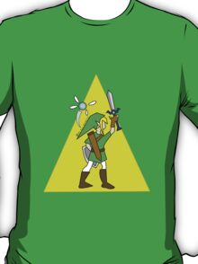 Link and Navi - TRIFORCE T-Shirt