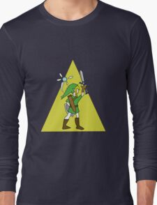 Link and Navi - TRIFORCE Long Sleeve T-Shirt