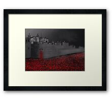 Tower of London Poppy Rememberance  Framed Print