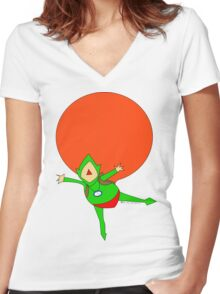 TINGLE~ Women's Fitted V-Neck T-Shirt