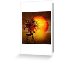 Visions of fire Greeting Card