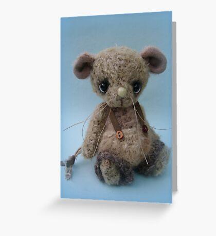 Bubbles - Handmade bears from Teddy Bear Orphans Greeting Card