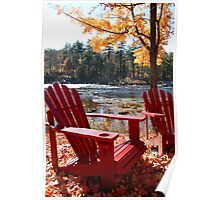 River Chairs Poster