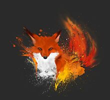 Red blazing fox  by demas