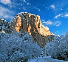 EL CAPITAN,WINTER by Chuck Wickham
