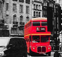 Red Bus by CRGArtDesign