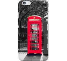 London Phone Booth iPhone Case/Skin